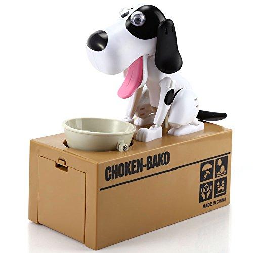 Kidsidol Cute Stealing Dog Model Piggy Bank Creative Money Coin Save Pot Gift for Child Kids