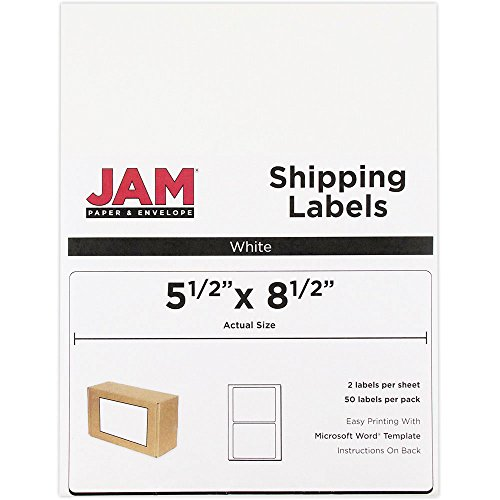 JAM Paper Shipping Labels - Half Sheet - 5 1/2