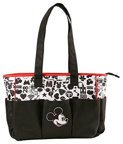 Disney Mickey Mouse Triple bolsillo bolsa de pañales, conversación impresión