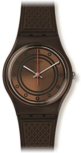 Swatch Schoggi Bronze Dial Brown-Tone Plastic Rubber Quartz Men's Watch GC114