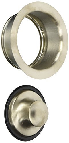 Keeney K5417DSBN Garbage Disposal Flange and Stopper, Brushed Nickel Brushed Nickel Disposal