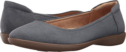 Naturalizer Women's Flexy Ballet Flat, Lady Blue Microfiber