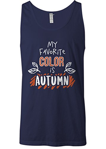 Mixtbrand Men's My Favorite Color Is Autumn Tank Top S Navy]()