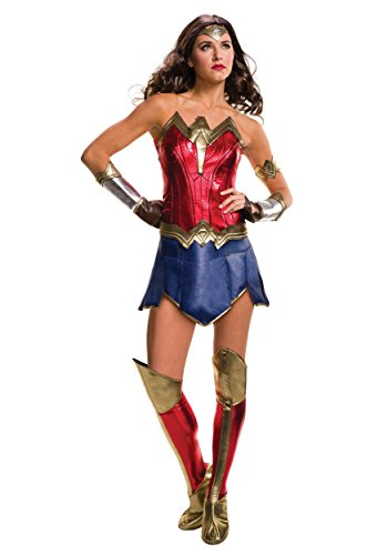 Secret Wishes Women's Batman V Superman: Dawn of Justice Deluxe Wonder Woman Costume, Multi, Small (Superman Adult Costume)