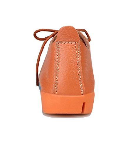 Scarpe Oxford Casual In Pelle Kunsto (fino Al 60% Di Sconto) Arancione