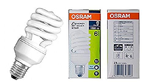OSRAM Bombilla Bajo Consumo Mini Espiral 23W=112 E27 Luz Frí a Duluxstar Mini Twist