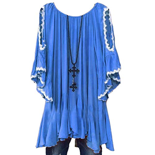 Jahurto Courtes Manches Courtes Shirt T Manches Bleu 1q1FwUax