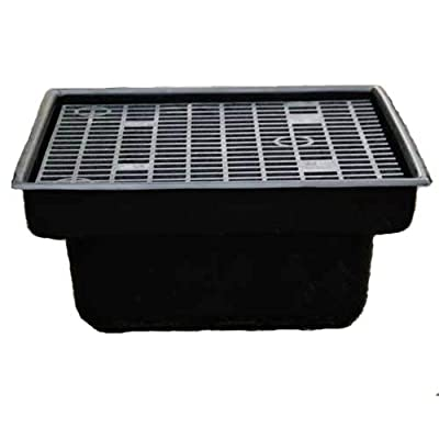 Custom Pro 24x24 INCH Heavy Duty Fountain and Waterfall Basin Reservoir for DIY Water Features is Durable, Sturdy and Versatile, Has Pump Access Door, Will Not Rust