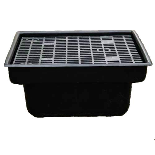 Custom Pro 24x24 INCH Heavy Duty Fountain and Waterfall Basin Reservoir for DIY Water Features is Durable Sturdy and Versatile Has Pump Access Door Will Not Rust