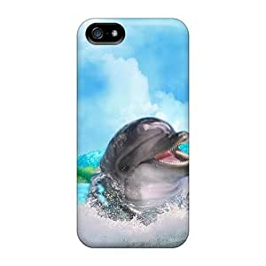 New Arrival Case Specially Design For Iphone 5/5s (dolphins Frolic)