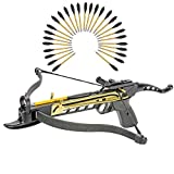KingsArchery Crossbow Self-Cocking 80 LBS with Adjustable Sights and a Total of 27 Aluminim Arrow Bolt Set Warranty For Sale