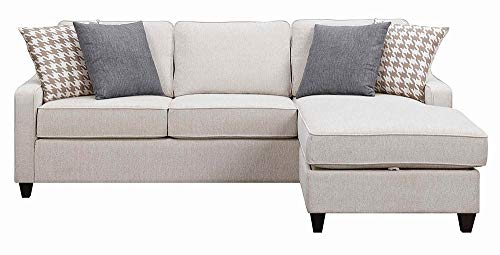 (Montgomery Sectional Sofa with Track Arms and Chaise Cream)