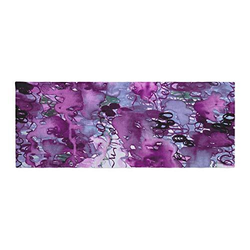 Kess InHouse JD1329ABR01 EBI Emporium Beauty in The Rain, Purple Plum Lavender Bed Runner, 34'' x 86'' by Kess InHouse