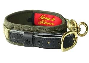 Niggeloh Collar Deluxe - Collar de caza, color verde, talla M