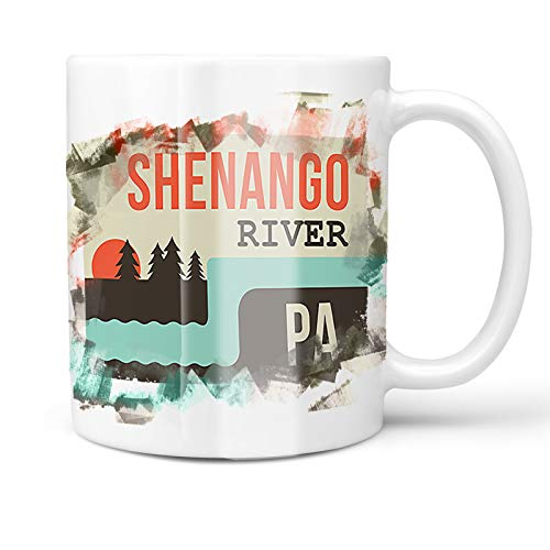 - Neonblond 11oz Coffee Mug USA Rivers Shenango River - Pennsylvania with your Custom Name