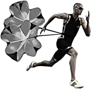 Kaxich Running Umbrella, 56 inch Speed Training Resistance Parachute with Adjustable Strap Improve Speed &