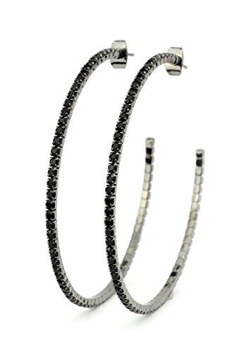 Jet Hematite Pierced Earrings - 3
