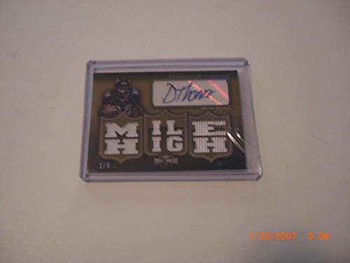 - Demaryius Thomas 2010 Topps Threads Game Used Triple Jersey Auto 1/9 Signed Card - Football Game Used Cards