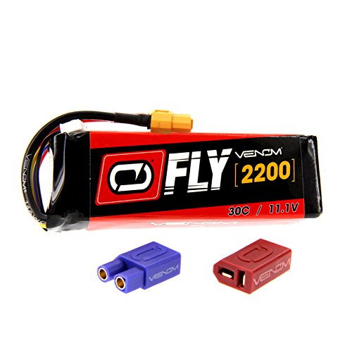 Venom Fly 30C 3S 2200mAh 11.1V LiPo Battery with UNI 2.0 Plug (XT60/Deans/EC3) - Compare to E-flite EFLB22003S30