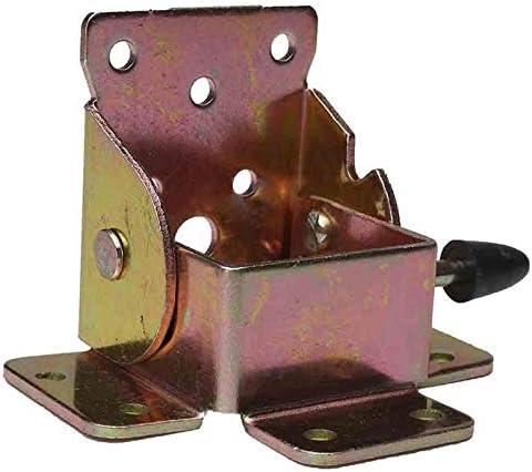 Kuinayouyi 4 Pcs//Juego Bloqueo de Hierro Plegable Silla de Mesa Patas de Soporte Bisagras para Casa Pata de Mueble Plegable Herramienta de Hardware de Soporte de Bisagra