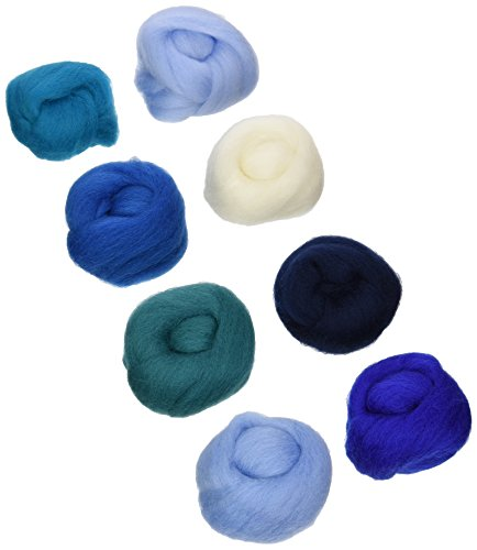 Wistyria Editions WR-908R Wool Roving, The Sea, 8-Pack by Wistyria Editions