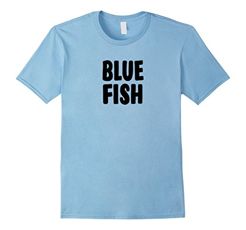 Mens Blue Fish Group Halloween Costume T-shirt XL Baby Blue