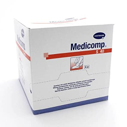 Hartmann – Medicomp Compresas 10 x 10 no tejidas estériles Talla:50 sachets de 2