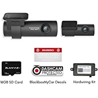 Blackvue DR750S-2CH With Power Magic Pro Hardwire Kit 2-Channel 1080P Full HD Car DVR Recorder 16GB SD Card | BlackboxMyCar Decal Included