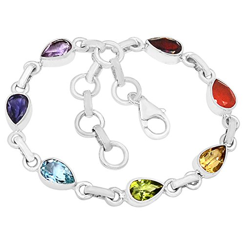 "Xtremegems 8.6g Healing Chakra 925 Sterling Silver Bracelet Jewelry 8"" CP122 from Xtremegems"