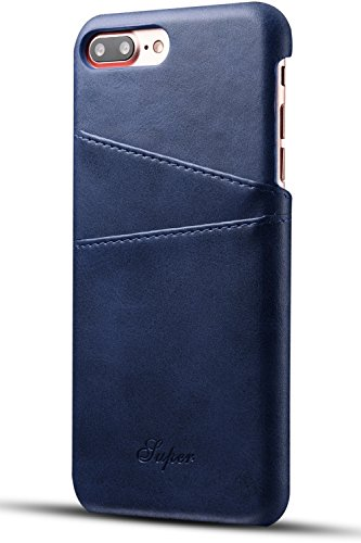 XRPow Apple iPhone 7 Plus iPhone 8 Plus Wallet Phone Case, Slim Leather Wallet Case Back Cover With Credit Card Holder