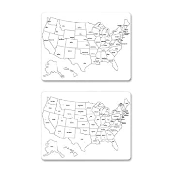 Amazoncom CKC Creativity Street TwoSided US Map - Us map whiteboard