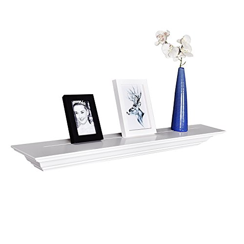 Review WELLAND Corona Crown Molding Wall Shelf, 36-Inch, White By WELLAND by WELLAND