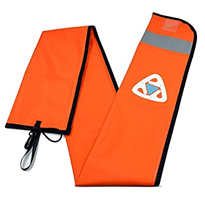 EZDIVE Scuba Diving Surface Marker Buoy (SMB) 400D Polyurethane Coated Nylon,Orange