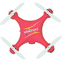 Owill GW009C Mini 2.4G 6 Axis RC Quadcopter Aircraft With HD Camea/Great Gift For Beginners (Red)