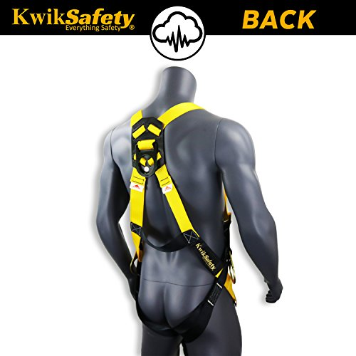 KwikSafety (Charlotte, NC) THUNDER (4 PACK) | OSHA ANSI Fall Protection Full Body Safety Harness | Personal Protective Equipment Dorsal Ring Side D-Rings | Universal Construction Industrial Roofing by KwikSafety (Image #2)