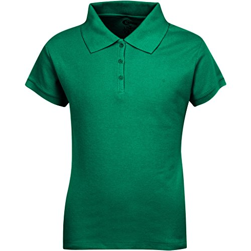 Kellys Girls Shirt Kids - Premium Short Sleeves Girls Polo Shirts Kelly Green M 10/12