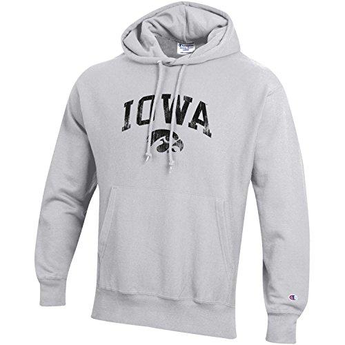- Champion NCAA Iowa Hawkeyes Men's Men's Reverse Weave Hoodie, Small, Gray