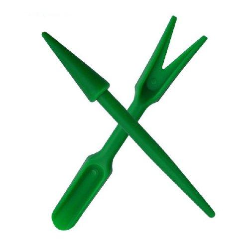 2pcs Plastic Dig Seedling Tools Hole Puncher Garden Tools
