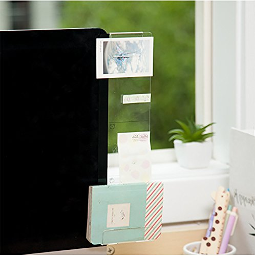 Monitor Document Holder (Foster Post-It Notes Holder Memo Board for Monitors (Clip & Hold, Right))
