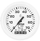 DRESS WHITE OMC SYSTEM CHECK TACHOMETER