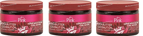 [NEW PACK OF 3] LUSTER'S PINK Shea Butter Coconut Oil SUPER MOISTURIZING CURL DEFINER CREAM 11 ounce (Luster Cream)
