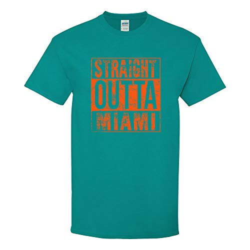UGP Campus Apparel Straight Outta Miami - Miami Football T Shirt - 2X-Large - Tropical ()