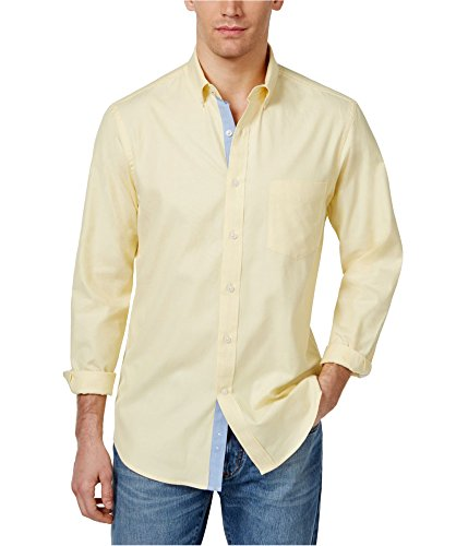 Club Room Men's Solid Oxford Cotton Shirt (Magnolia, XXX-Large) from Club Room