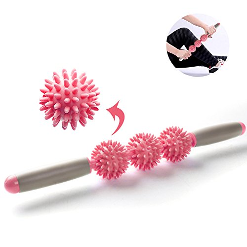 Myofascial Release Roller Balls for Muscle Pain Relief Tool -Fascia and Cellulite Remover Blasters Massage Trigger Point Massage Stick (pink)