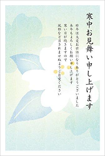 [해외]중 문 병 편지余寒 문 병 포스트 카드 (동백) (중 문 병 (세로 5 매입)) / The cold in the winter postcardYokisori postcard (Tsubaki) (In the winter (5 sheets of vertical))