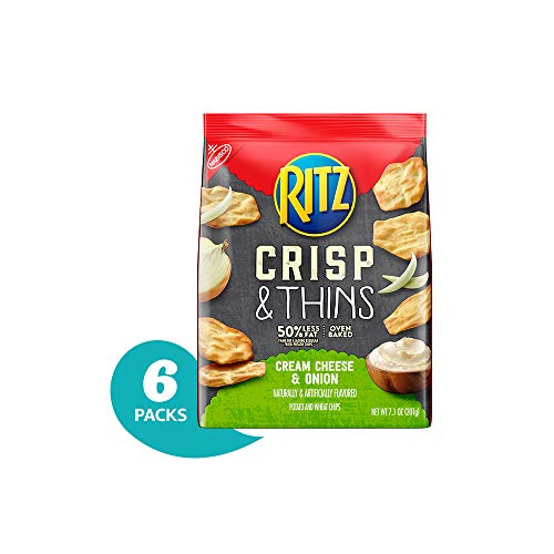 Ritz Crisp & Thins Cream Cheese & Onion Chips, 7.1 Ounce (Pack of 6) ()