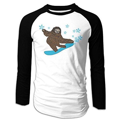 Despereaux Wii (Puppylol Men's Sloth Boarding Long Sleeve Raglan Baseball Jersey S)