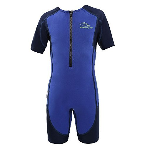 Aqua Sphere Stingray Short Sleeve Wet Suit, Blue Short Sleeve, ()