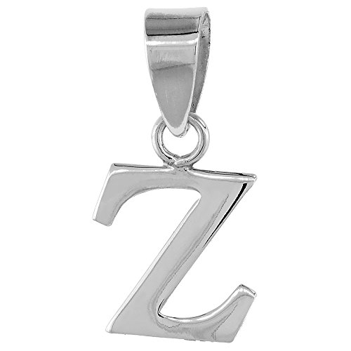 Sterling Silver Initial Alphabet Polished