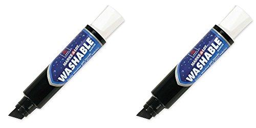 Marks-A-Lot Jumbo Chisel Tip Washable Marker, Black (24158), 2 Packs - Avery Banner Sign